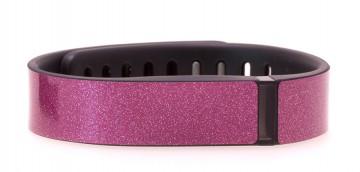 Tourmaline Pink Glitter Fitbit Flex Skin