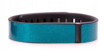 Turquoise Blue Glitter Fitbit Flex Skin
