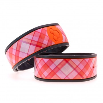"""Blush"" Plaid MagicBand Skin"