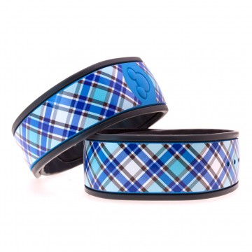"""Persian Blue"" Plaid MagicBand Skin"