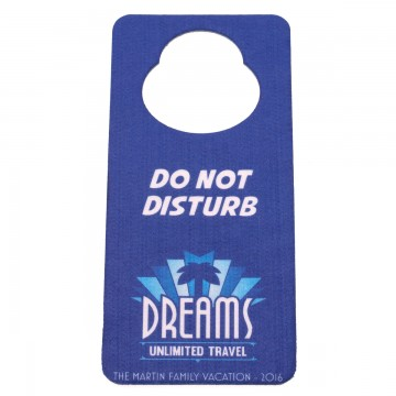 Dreams Unlimited Travel custom door hanger
