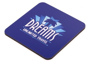 Dreams Unlimited Travel Glossy Wooden Coaster