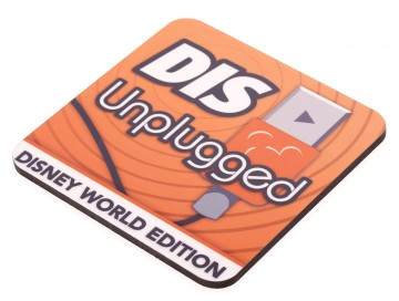 DisUnplugged Glossy Wooden Coaster
