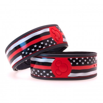 Thin Red Line Flag MagicBand Skin