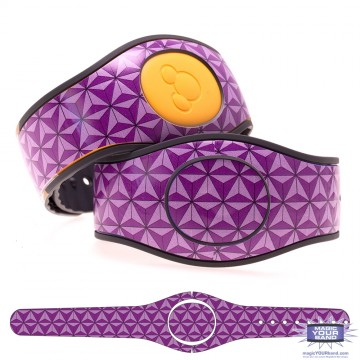 Abstract Triangles in Purple MagicBand 2 Skin