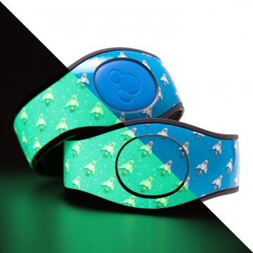 Glow in the Dark Space Rocket MagicBand 2 Skin