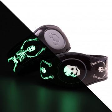 Glow in the Dark Skeletons MagicBand 2 Skin