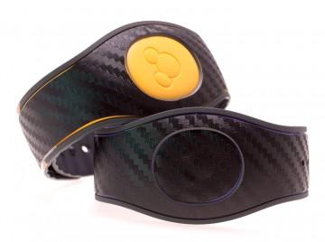 Black Carbon Fiber Textured MagicBand 2 Skin