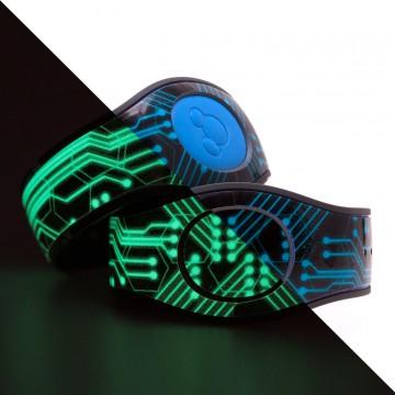 Glow in the Dark Circuits Design MagicBand 2 Skin