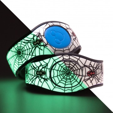 Glow in the Dark Spider MagicBand 2 Skin