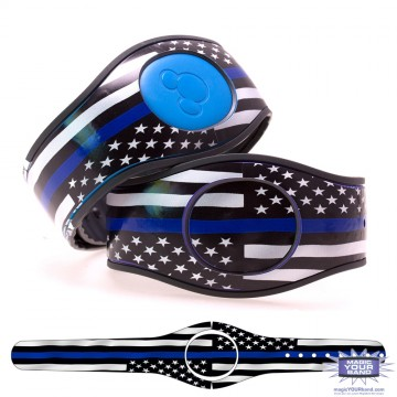 Thin Blue Line Flag MagicBand 2 Skin