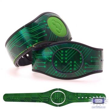 Green Circuit Board MagicBand 2 Skin