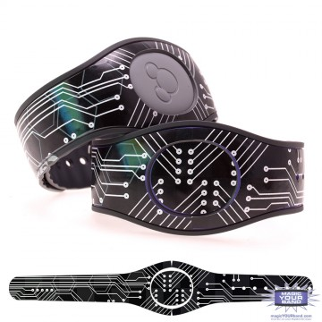 Black Circuit Board MagicBand 2 Skin