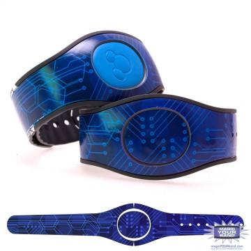 Blue Circuit Board MagicBand 2 Skin
