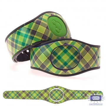 """Lime"" Plaid MagicBand 2 Skin"
