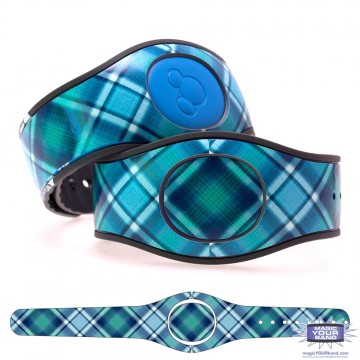 """Blue Raspberry"" Plaid MagicBand 2 Skin"