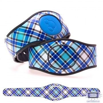 """Persian Blue"" Plaid MagicBand 2 Skin"