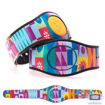 Colorful Contemporary Mosaic MagicBand 2 Skin