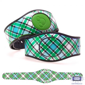 """Malachite"" Plaid MagicBand 2 Skin"
