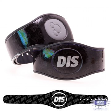 The DIS Black Glitter MagicBand 2 Skin
