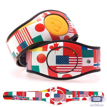 World Flag Montage MagicBand 2 Skin