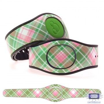 """Melon"" Plaid MagicBand 2 Skin"