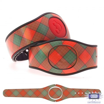 """Watermelon"" Plaid MagicBand 2 Skin"