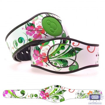 Spring Flowers Series - Pink Flowers MagicBand 2 Skin