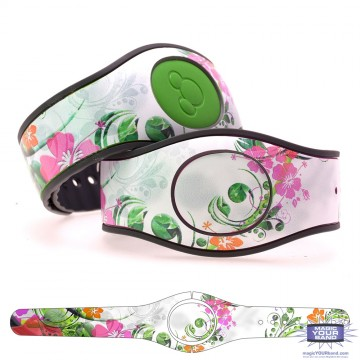 Spring Flowers Series - Orange Flowers MagicBand 2 Skin