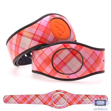 """Blush"" Plaid MagicBand 2 Skin"