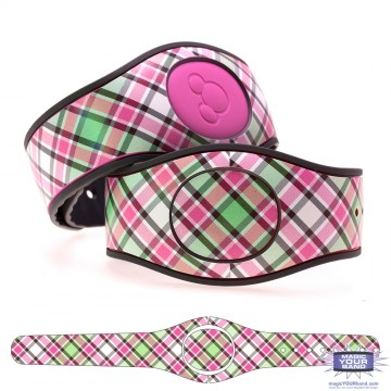 """French Rose"" Plaid MagicBand 2 Skin"