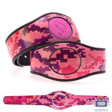 Digital Camo in Pink Pattern MagicBand 2 Skin