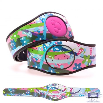 Butterflies and Flowers MagicBand 2 Skin