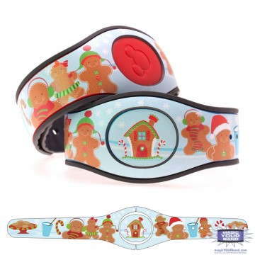 Christmas Gingerbread Characters MagicBand 2 Skin