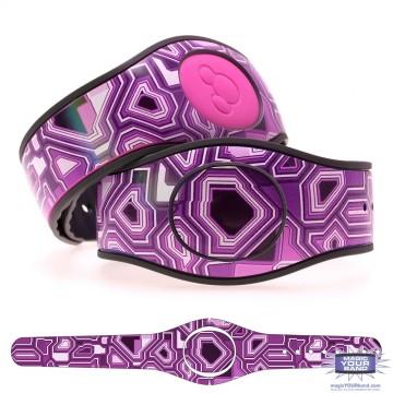 Techno Purple MagicBand 2 Skin