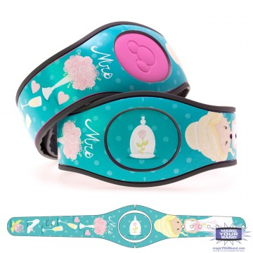 "Newlywed ""Mrs"" Bride (Teal) MagicBand 2 Skin"