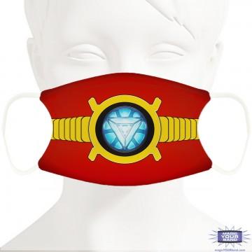 Iron Superhero Face Mask - Personalizable