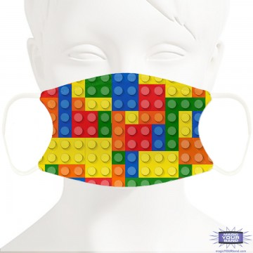 Building Blocks Face Mask - Personalizable