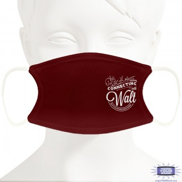 Connecting With Walt Face Mask - Personalizable