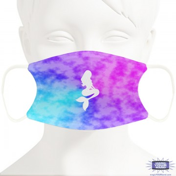 Mermaid Cloud Face Mask - Personalizable