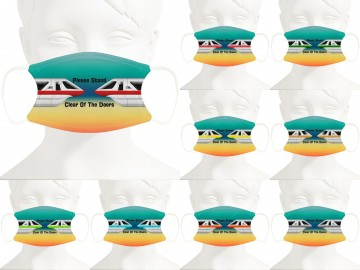 Monorail Design Face Mask - Personalized