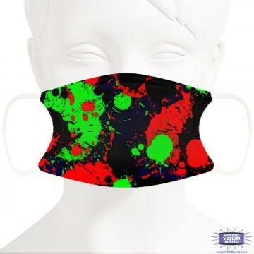 Paint Splat Face Mask - Personalizable