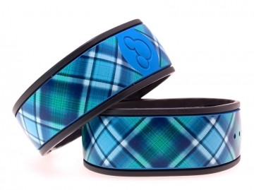 """Blue Raspberry"" Plaid MagicBand Skin"