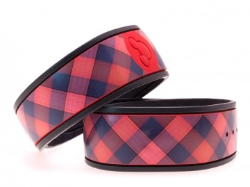 """Cranberry"" Plaid MagicBand Skin"
