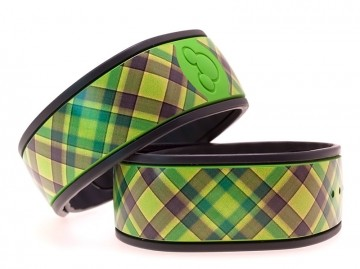 """Lime"" Plaid MagicBand Skin"