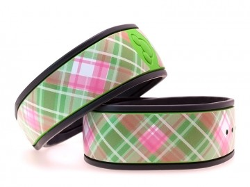 """Melon"" Plaid MagicBand Skin"