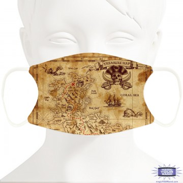 Pirate Map Face Mask - Personalizable
