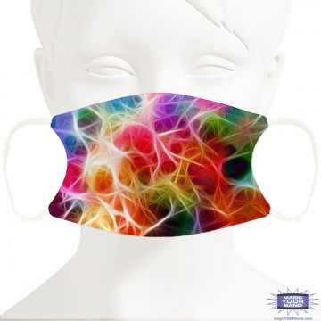 Plasma Pattern Face Mask - Personalizable