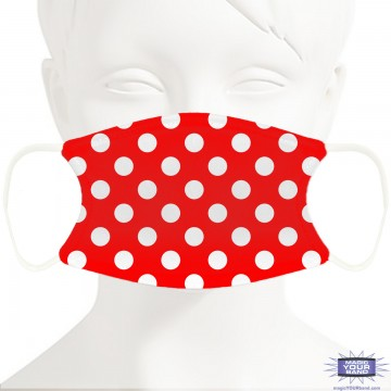 Red Polka Dots Face Mask - Personalizable
