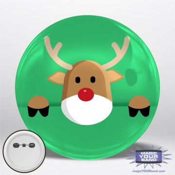Rudolph Personalizable Park Button